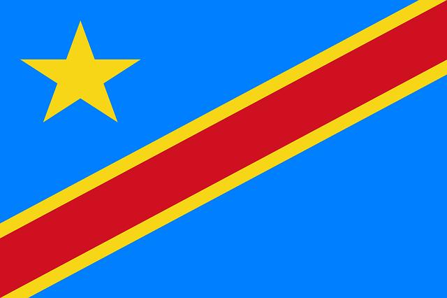 Demokratische Republik Kongo Flagge