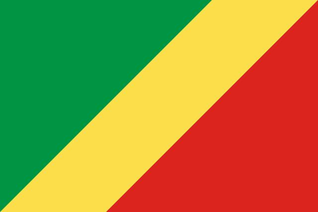Republik Kongo Flagge