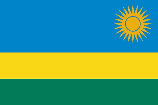 Ruanda Flagge