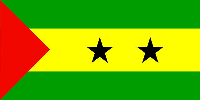 Sao Tome und Principe Flagge