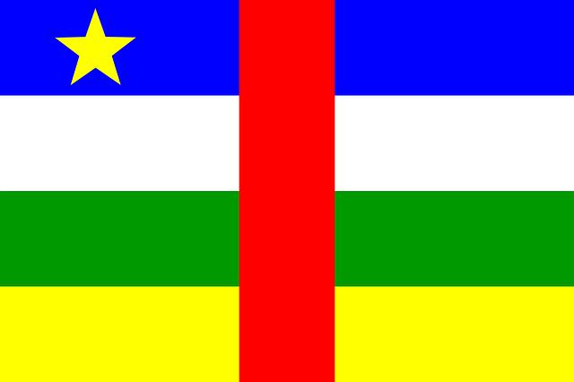 Zentralafrika Flagge