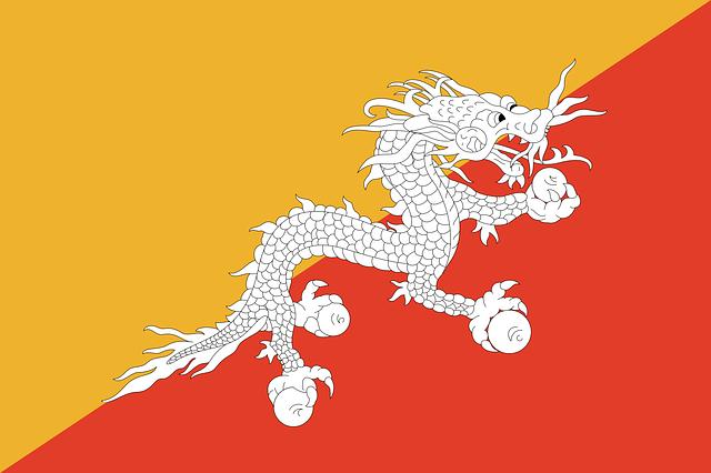 Bhutan Flagge