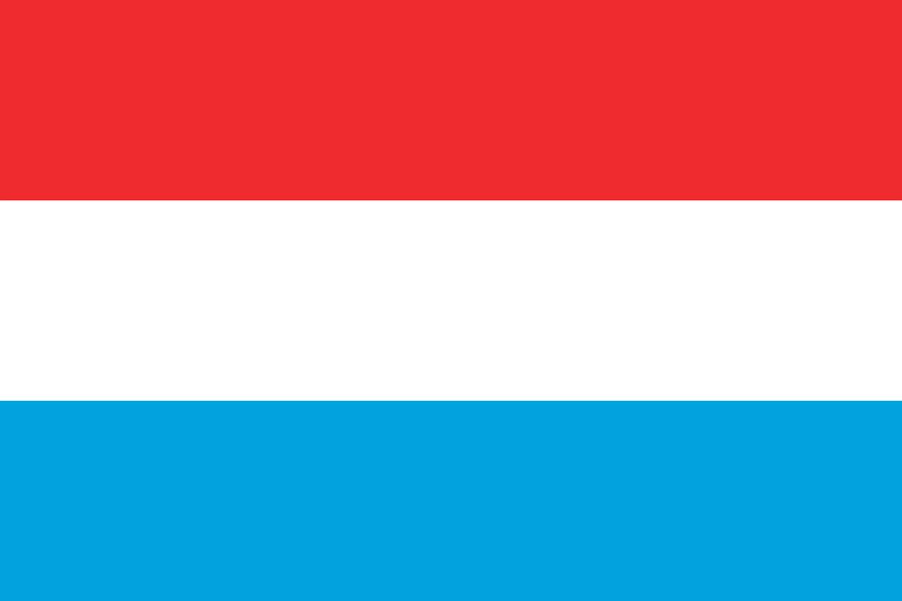 Luxemburg Flagge