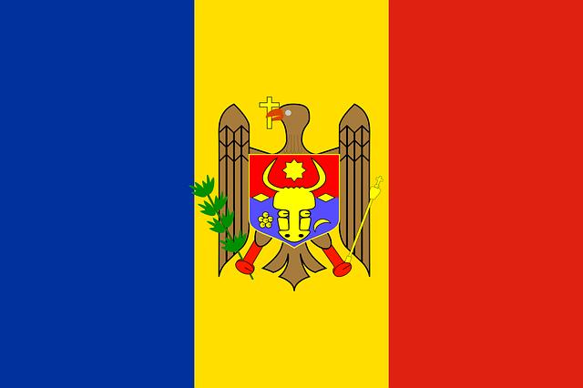Moldawien (Moldau) Flagge