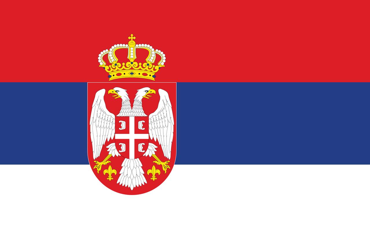 Serbien Flagge