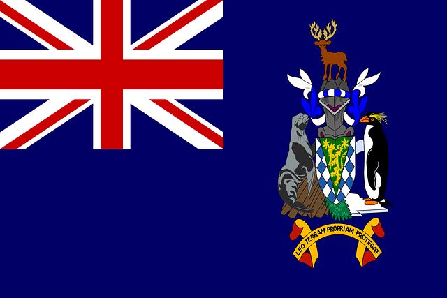 Südgeorgien und die Südlichen Sandwichinseln Flagge